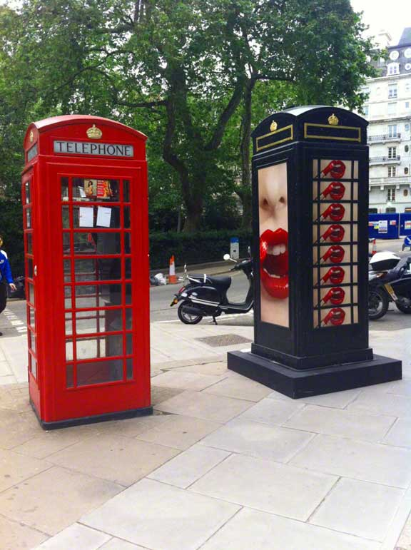 Phone boxes, Hanover Square - photo by Lottie Nevin