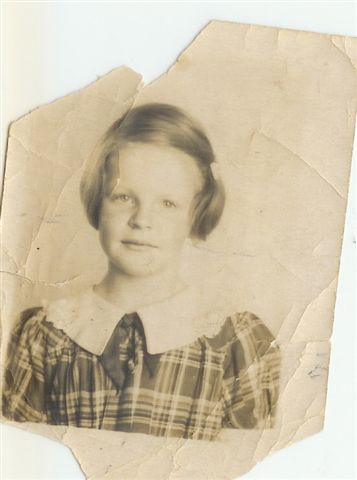 Joyce Handy, six years old