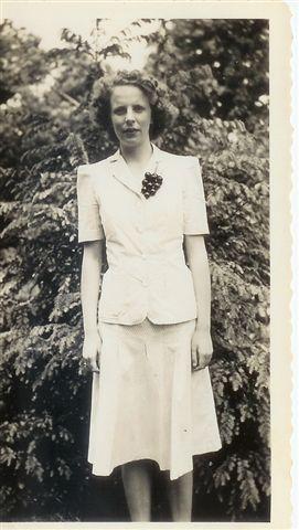 Joyce Handy, around eighteen years old