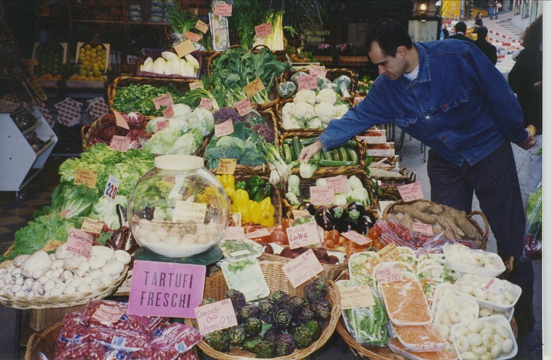 Market in Lugano
