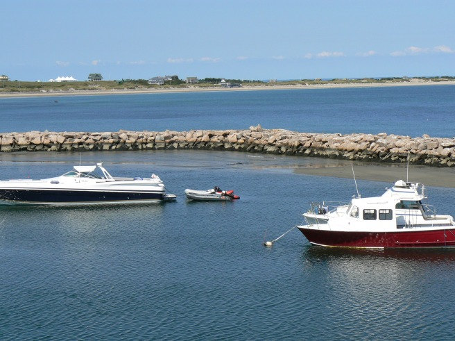 Entering Old Harbor, Block Island. photo by M. Reynolds