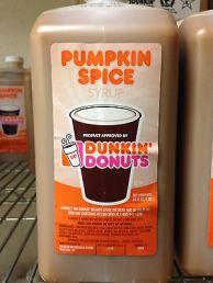 DD pumpkin syrup