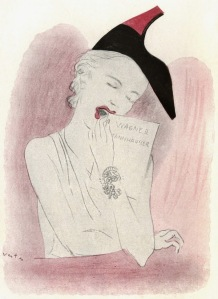 1937 | Elsa Schiaparelli shoe-hat Drawing by Marcel Vertès Source: Archivio Alinari