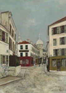 La Rue Norvins, Montmartre, by Maurice Utrillo circa 1910